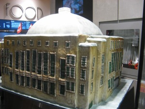 This is a cake representation of Maple Leaf Gardens Loblaws.