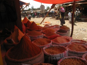 Spices at Bahar Dar market.