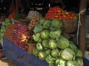 Fresh produce at Bahar Dar market.