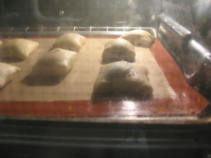 Beignets in the oven.