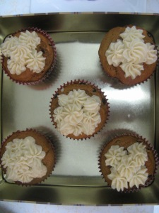Pumpkin Muffins with Cream Cheese Icing