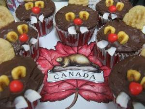 My beaver cupcakes. Photo by Kimberley (c)2013.