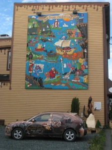 Mural on company's building. Photo by Kimberley (c)2013.