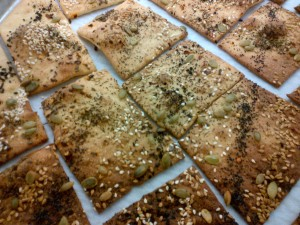 Lavash - lavished with seeds. Photo by Kimberley (c)2013
