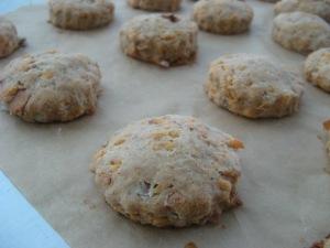 Vegan cheddar 'bacon' scones Photo by Kimberley (c)2014