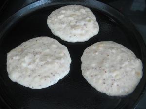 Gluten-free pancakes with banana and crushed hazelnuts Photo by Kimberley (c)2014